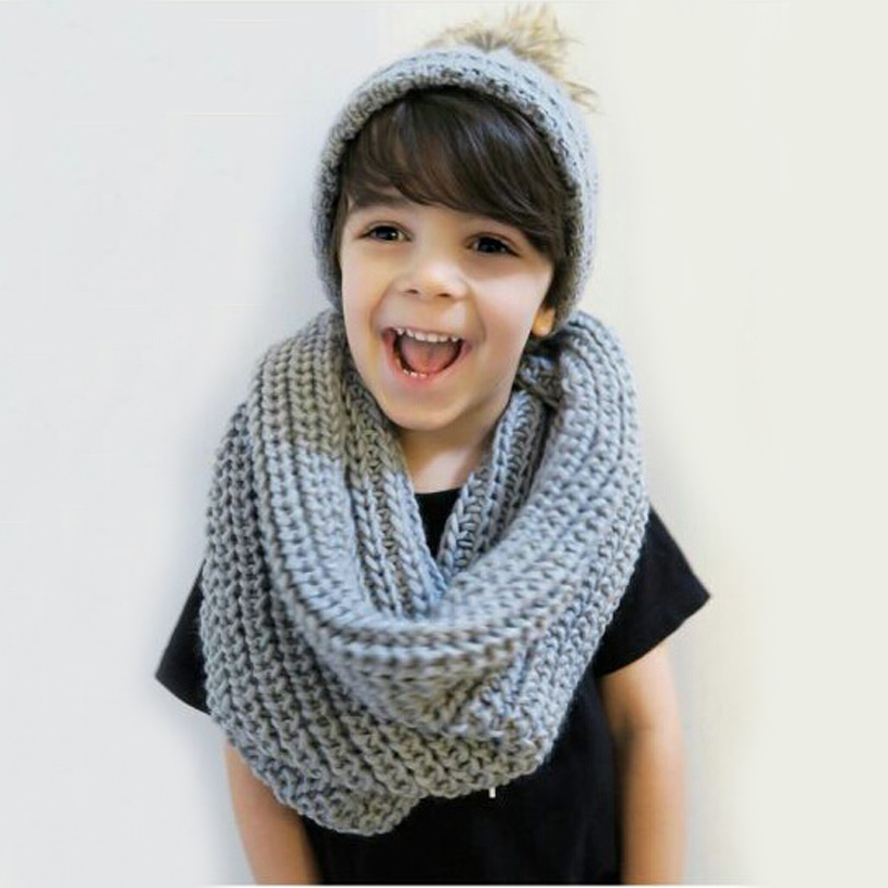 Autumn Winter Baby Hats Cap Scarf Kids Baby Winter Warm Beanie Children Kid Boys and Girl Hat Scarf+Cap One Set 3 Colors