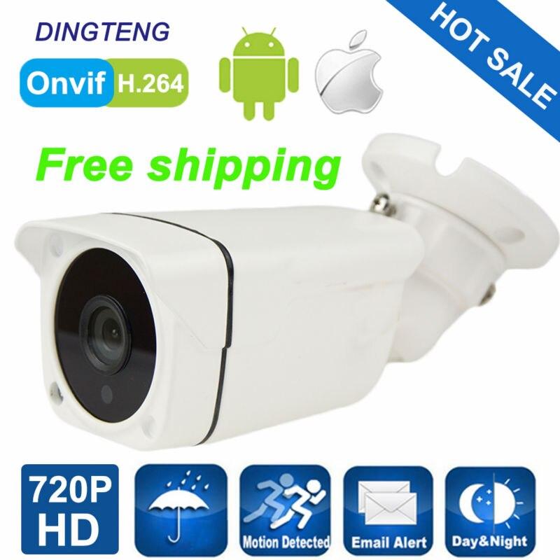 IP Camera 720P 1.0MP Mini Bullet IP Camera ONVIF Waterproof Outdoor IR CUT Night Vision P2P CCTV Home Surveillance Security