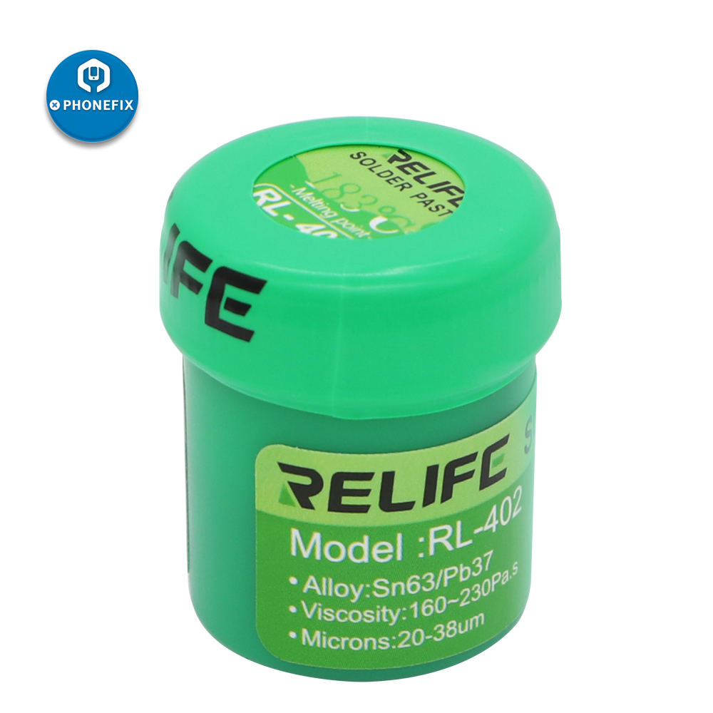 RELIFE 183°C Medium Temperature No-Clean Solder Paste Flux RL-400/401/402 SolderTin Sn63/Pb67 BGA Reballing Soldering Tin