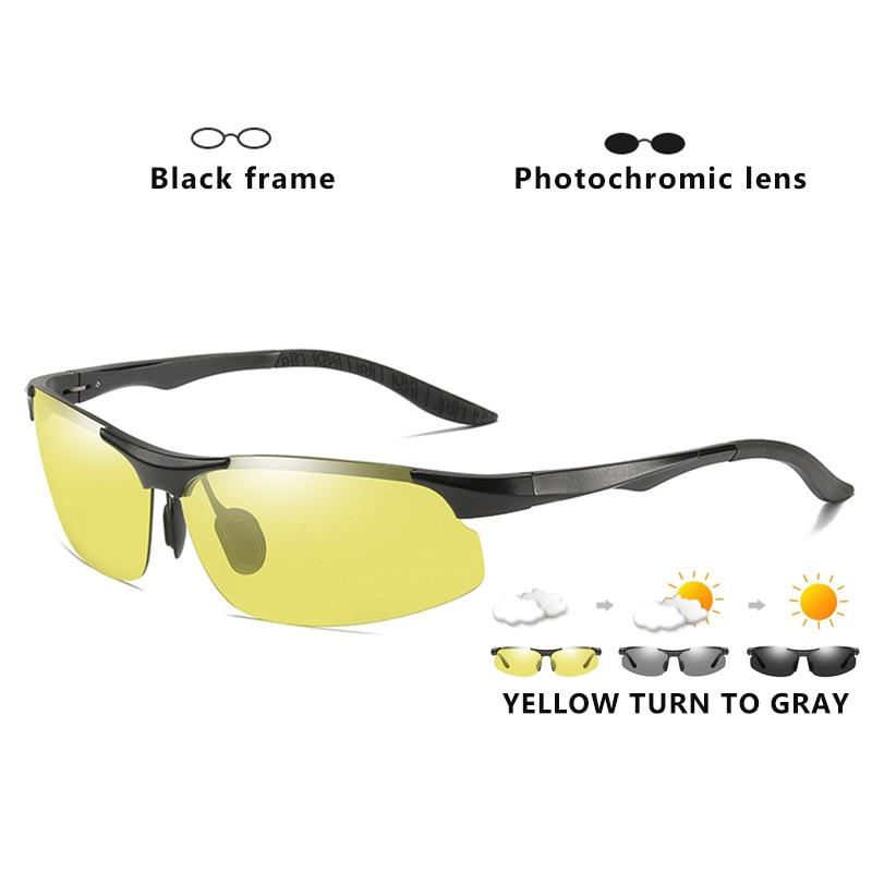 Aluminum Magnesium Photochromic Polarized Sunglasses Men Driving Glasses Day Night Vision Driver Goggles Oculos De Sol Masculino 7
