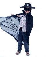 Meninos legal fantasias para o Halloween crianças Zorro Cosplay para venda