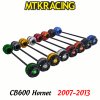 MTKRACING For HONDA CB600 Hornet 2007 2013 CB 600 CNC Motorcycle Front rear wheel Axle Slider shock absorber Falling Protection