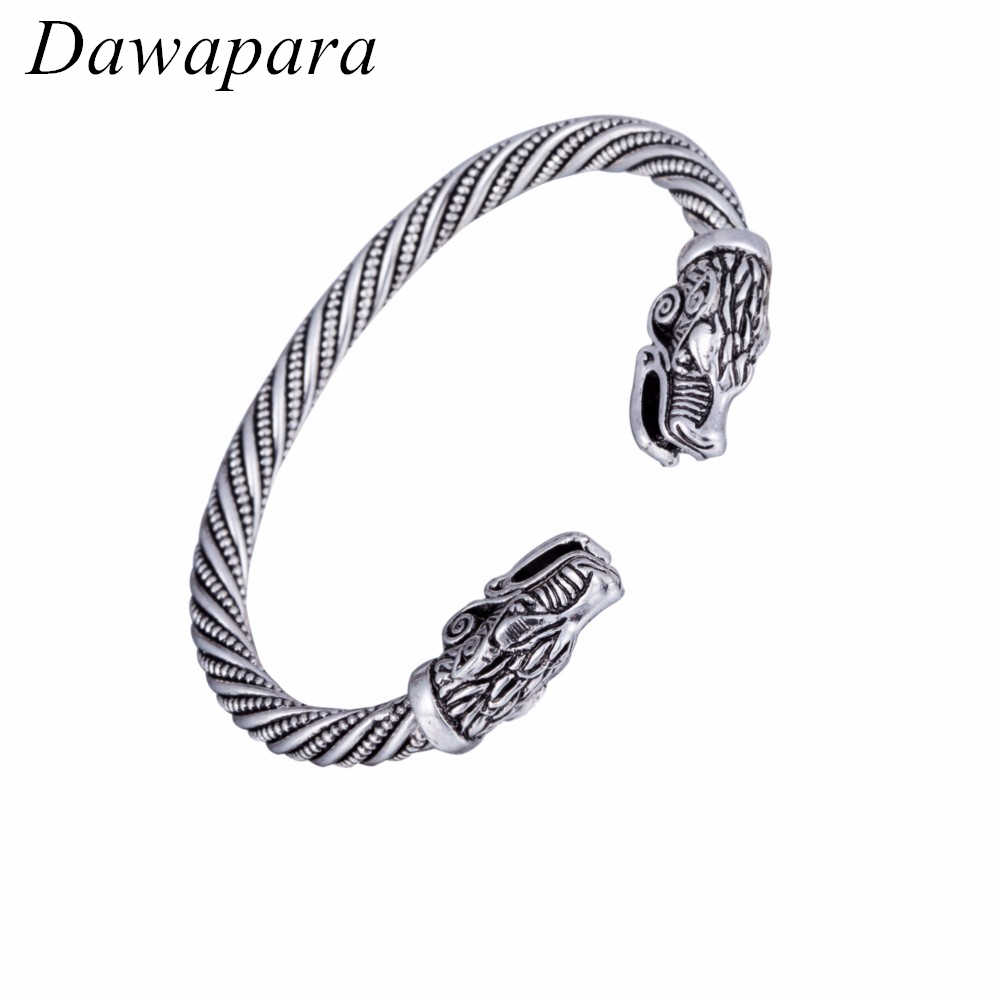 Dawapara Teen Wolf Bracelet Fashion Accessories Vikings Bracelets for Men Wristband Cuff Bangles for Women Snaps Jewelry Gift
