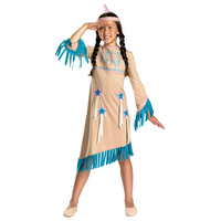Native American Princess Indian Girl Historical Costume Good For Halloween And Dress Up Play
