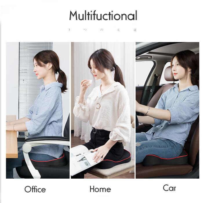 Premium Memory piankowa poduszka do siedzenia Coccyx ortopedyczny samochód biurowy poduszka na krzesło Pad dla kości ogonowej rwa kulszowa ból w dole pleców Relief