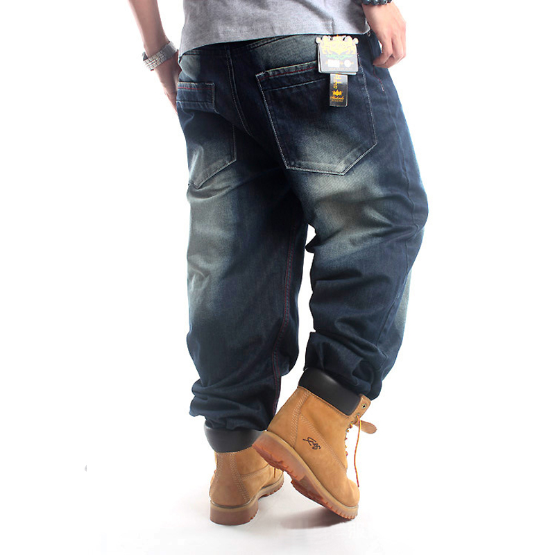 Mens Hip Hop Water Embroidery Loose Casual Trousers Dsq Robin Mens 2018 New Balmai Jeans Men Light Appliques Full Length