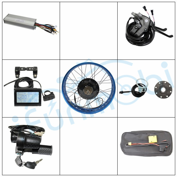 Kit Ebike 36 V 1200 W 48 V 1500 W gros pneu 20-26