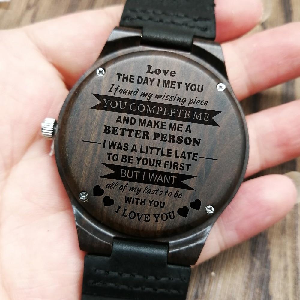 Personalized Wooden Custom Watch For Men Boyfriend Gifts -1344