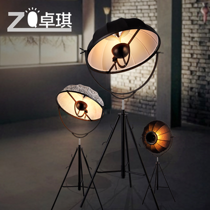 Zhuo qi loft warehouse industrial style retro studio floor lamp post zhuo qi loft warehouse industrial style retro studio floor lamp post modern three foot floor lamp mozeypictures Gallery