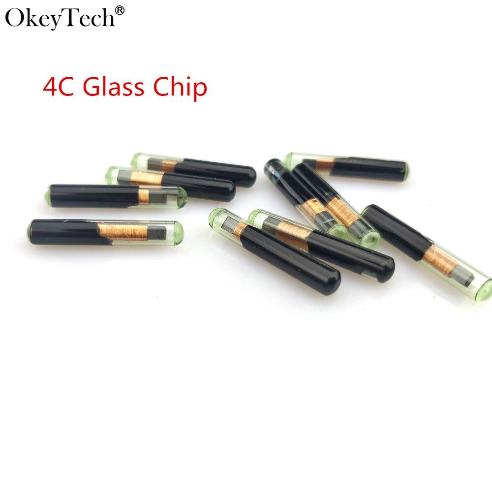 Okeytech 10 шт./лот высокое качество автомобиля дистанционный ключ чипов пустой id ID4C Стекло чипа для Toyota для ford чипа