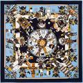 Осень Зима Мода Новый Саржевого Шелковый 100 см Квадратный Шарф Национальный Стиль Цифровая Печать Бренд Шали Шелковые Платки Шарфы