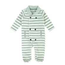 Nouveau-né Bébé Garçon Vêtements Rayé Printemps Automne Corps costume Coton Plein Manches Salopette Infatn Garçons d'une Seule pièce Costumes Footies