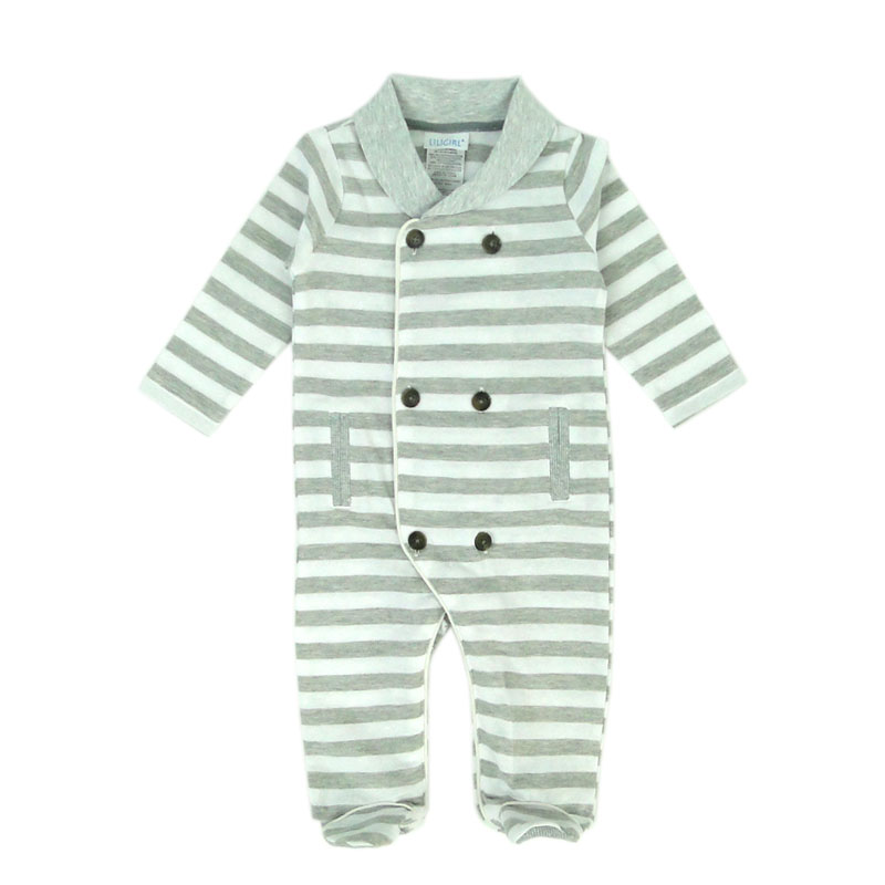 Newborn Baby Boy Clothes Striped Spring Autumn Body suit Cotton Full Sleeves Jumpsuit Infatn Boys One-piece Costumes Footies