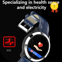 2019 New accurate ECG measurement PPG heart rate round smart band wrist watch support Sleep quality detection for ios android