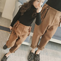 Женский 2016 новые девушки зима прилива талии шерстяные брюки брюки редьки лямки бесплатная доставка