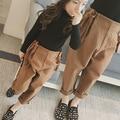Amplitud de la marea de la mujer 2016 nuevas muchachas del invierno pantalones pantalones de lana de cintura correas rábano envío libre