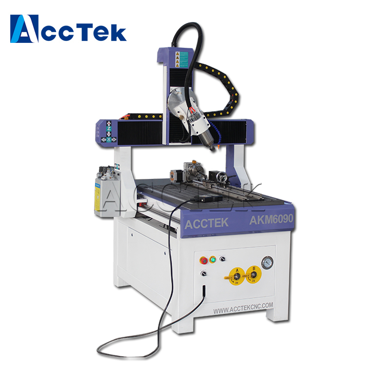 Factory Hot Sale High Quality 6090 4 Axis Wood Cnc Router Home Business Craft Cnc Router With Artcam Software