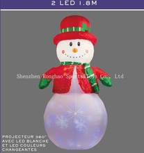 Christmas Airblown Inflatable 6′ Snowman Illuminated  LED Lighted Flashing Outdoor Lawn Yard Holiday Decoration