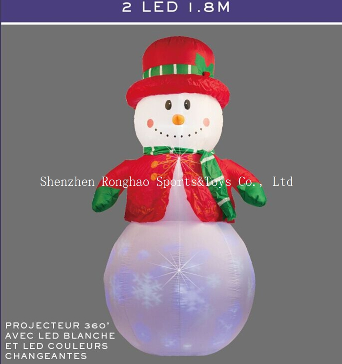 Christmas Airblown Inflatable 6' Snowman Illuminated  LED Lighted Flashing Outdoor Lawn Yard Holiday Decoration