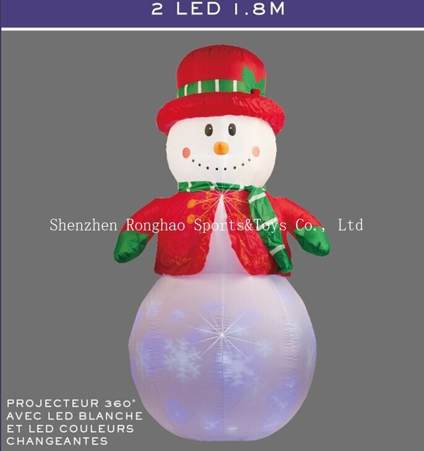 christmas airblown inflatable 6 snowman illuminated led lighted flashing outdoor lawn yard holiday decoration - Christmas Airblown Inflatables