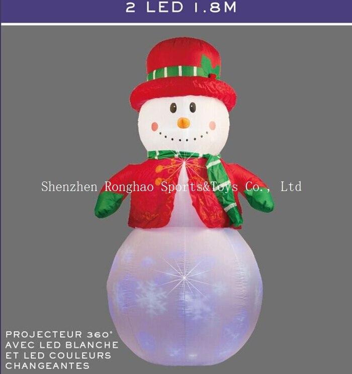 Noël gonflable 6 'bonhomme de neige gonflable LED illuminée clignotant extérieur pelouse Yard décoration de vacances-in Pendentifs et ornements pendants from Maison & Animalerie    1