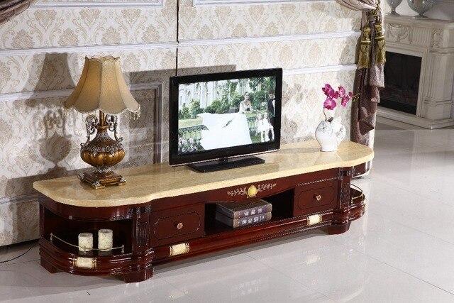 Woonkamer Houten Meubels : Retro houten tv stand opberglade marmeren top gemaakt in china