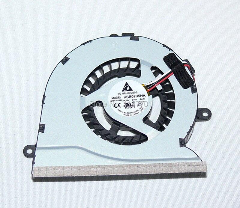 100% Original ventilateur de refroidissement de processeur pour ordinateur portable Pour Samsung NP400 NP600 NP400B5B NP600B5C 600B5B 200B5BIA BA31-00103A KSB0705HA-AL1U