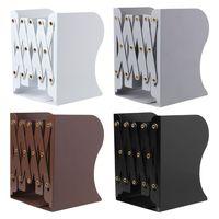 Extension Adjustable Metal Bookends Heavy Duty Book Desktop File Folder Retractable Stand Bookshelf Rack Holder