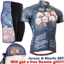 Hot Sale Men's Cycling Sets Short Jerseys Flower Partten Bike Bicycle Clothes  Professional 3D Padded Breathable Clothings Sets