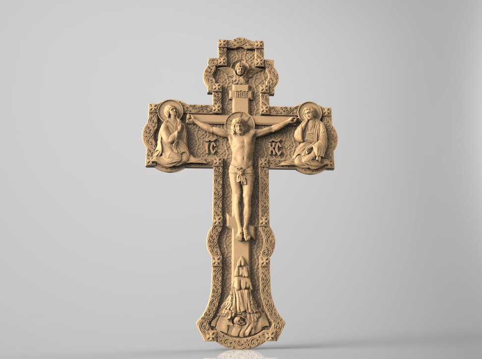 Crucifixion 3D STL Relief CNC Carving Engraving Router Machine Artcam Aspire