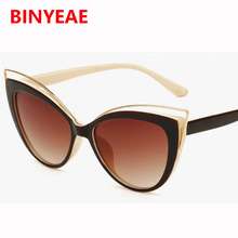 d122b22f3f Sexy Celebrity Cat eye Sunglasses Women Brand Design shades Hollow Sun Glasses  Female Vintage oculos De