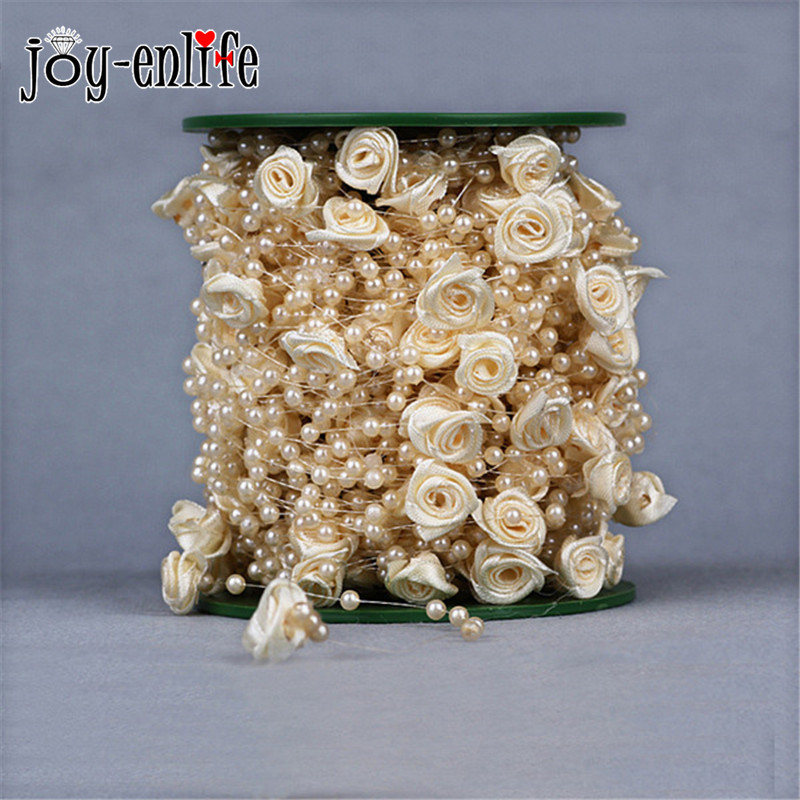 5 Meters Fishing Line Artificial diy Pearls flower Beads Chain Garland Flowers Wedding Party Decoration decoration