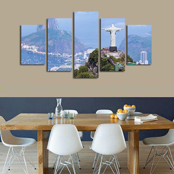 Rio/'s Christ The Redeemer 5 panel canvas Wall Art Home Decor Poster Print