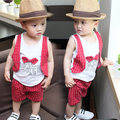 2016 New Designs Children Vest for Boys Brand England Style Kids Summer Waistcoat fashion Boys Short-sleeved suits