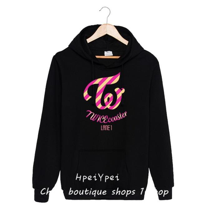 Album DEUX FOIS signé autografado TWICEcoaster vrouwen hoodies shirts hip hop kawaii harajuku hoodie kpop vêtements femmes