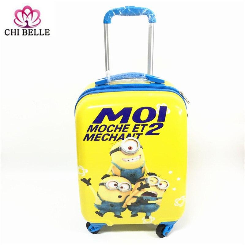 18 pouces enfants dessin animé biellette valise PC cas de bagages à main pour enfants boîte de voyage pour étudiants