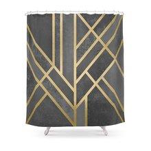 Art Deco Geometry 1 Shower Curtain(China)