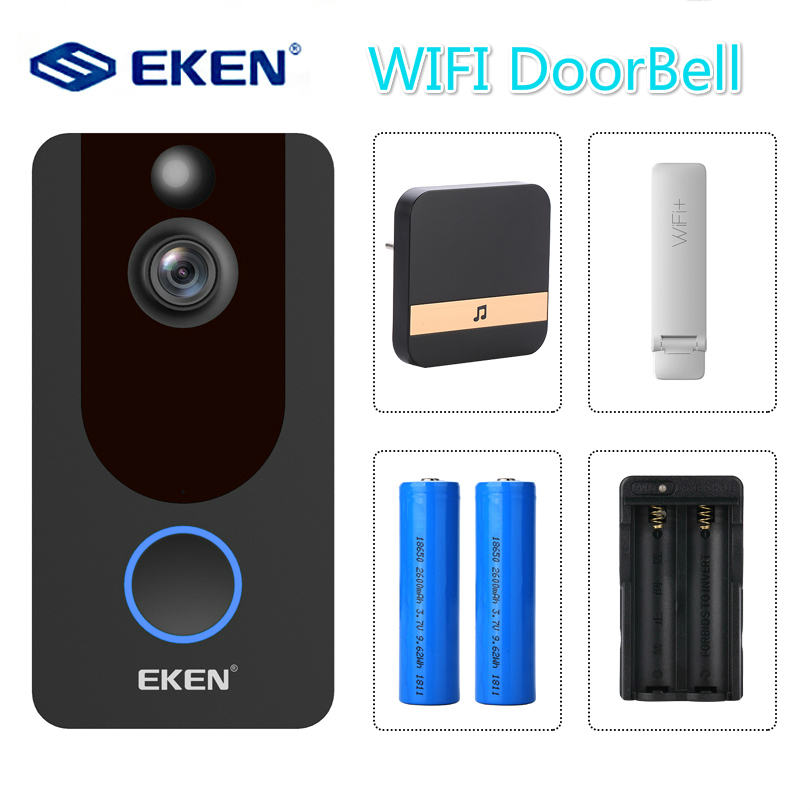 V7 Smart IP 1080P Video Intercom WIFI Video Door Phone Bell Doorbell Camera For Apartments IR Alarm Wireless Security Camera