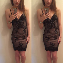 ZOGAA 2019 Women Slim Sexy Lace Mini Dress Black Spaghetti Strap Evening Party Night Club Girl Bodycon Summer Vestido