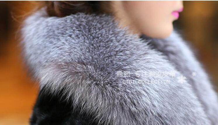 D'hiver Nagymaros Picture Fausse Color Épais Nouvelles Longue De Manteau Chaud Mode picture Color Section Col En Fourrure 2018 Femmes RxxnZHwq