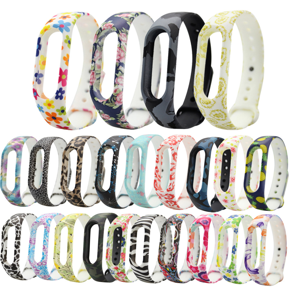 Watchbands Silicone Bracelet Strap Replacement Silica Gel Wristband Band Strap For Xiaomi Mi Band 2 Bracelet damask silica gel mold