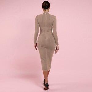 Image 4 - Deer Lady Long Sleeve Bandage Dresses 2019 New Arrivals Summer Women Bodycon Bandage Dress Party Midi Bandage Dresses Elegant