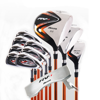 Mens Golf Clubs Complete Set RV 1 Set Beginner Full Set Golf Club + Fairway Wood + Hardcore Graphite Golf Club No Bag