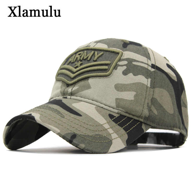 Xlamulu Camouflage Baseball Cap Women Snapback Hats For Men Army Letter Caps Casquette Bone Male Hat Gorras Casual Dad Hat Caps