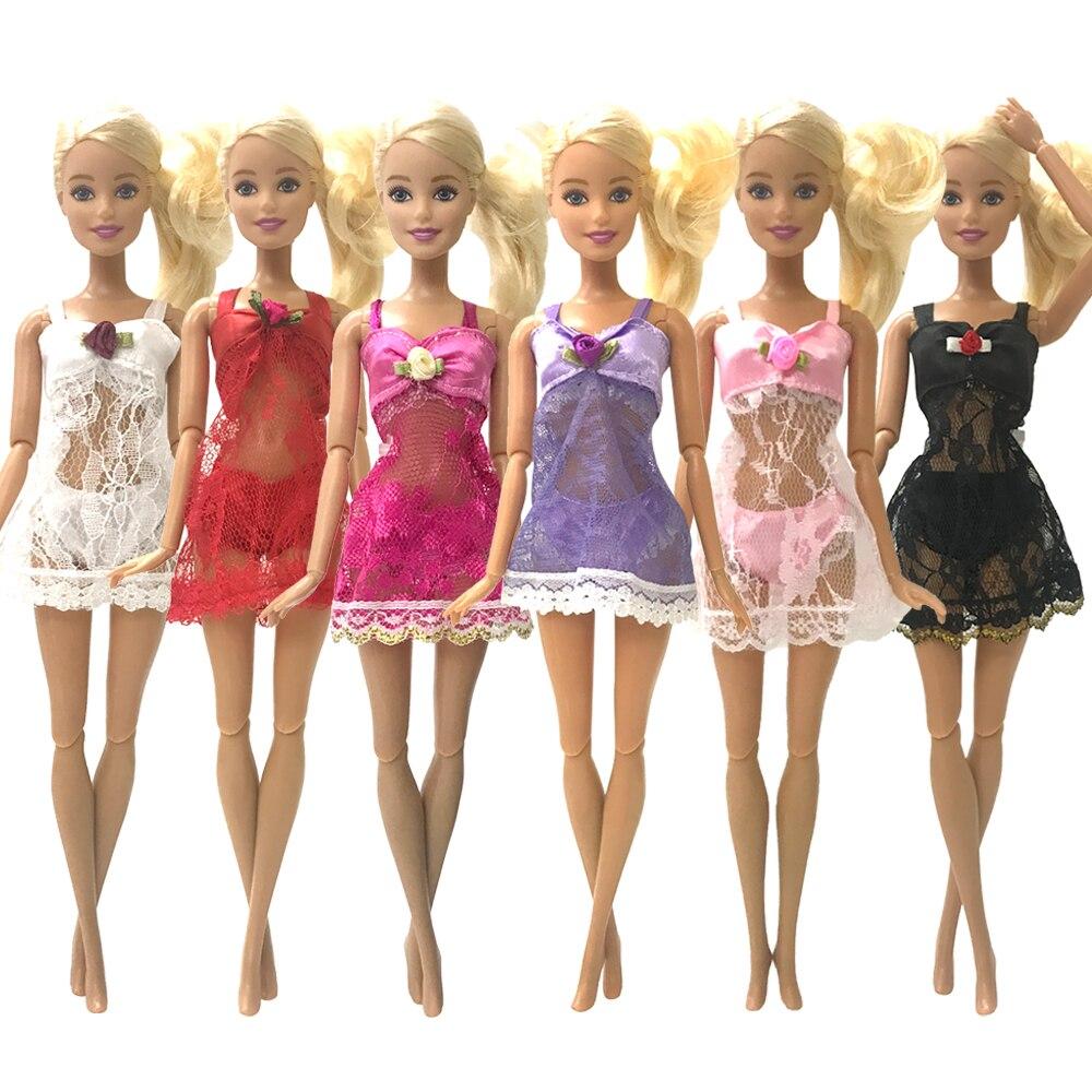 NK One Set poupée tenue pyjamas + sous-vêtements + soutien-gorge Sexy dentelle robe vêtements pour Barbie poupée accessoires pour enfants JJ