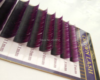 CrownLash Volum Lash Extension D 0 10 7 15mm Dual Color Purple