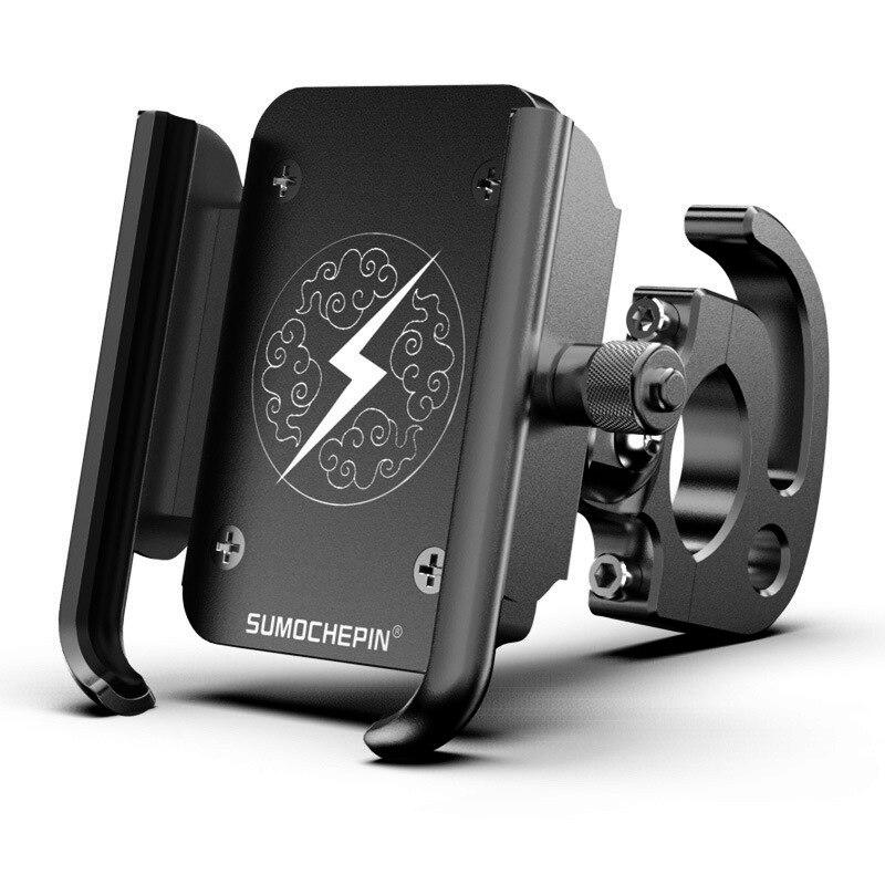 Aluminium Alloy Bike Phone Holder Universal 4/6.5 Inch Moble Phone Holder Adjustable Rotatable Anti-Slip Bicycle Phone Holder