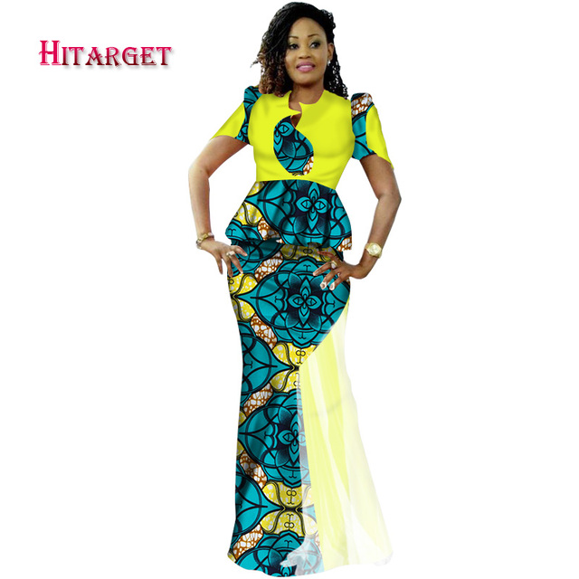 df5c520467a Fashion African Woman Clothing 2 Piece Yarn Mermaid Skirts Sets Dashiki  Splice Print Crop and Skirt Sets African Clothes WY1636