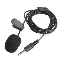 Mini 3.5mm Studio Speech Microphone with Collar Clip for Desktop PC Laptop Microphone -25 high quality special black hands free clip on 3 5mm mini studio speech microphone