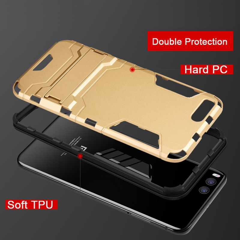 Image 4 - CAPSSICUM Mi6 Armor Case for XIAOMI MI6 PC+Silicone Hard Antiknock Shockproof Kickstand Back Cover Shell Stand High Quality-in Fitted Cases from Cellphones & Telecommunications